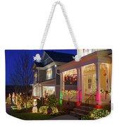Christmas Village Weekender Tote Bag