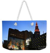 Terminal Tower And Sherwin Williams Building In Cleveland, Ohio, Usa Weekender Tote Bag