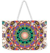 Colorful Concentric Abstract Weekender Tote Bag