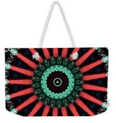 Colorful Kaleidoscope Incorporating Aspects Of Asian Architectur Weekender Tote Bag