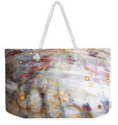 4. Dirty Brown, Red, And White Glaze Painting Weekender Tote Bag