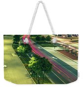 Early Morning Scenes At San Jose California International Airpor Weekender Tote Bag