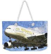 Etihad Airlines Airbus A380 Art Weekender Tote Bag