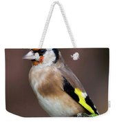European Goldfinch Bird Close Up   Weekender Tote Bag