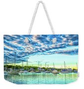 Falmouth Harbor Cape Cod Weekender Tote Bag