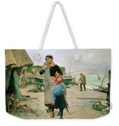 Fisherfolk Returning With Their Nets 1882 Henry Bacon Weekender Tote Bag