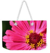 Fuchsia Pink Zinnia From The Whirlygig Mix Weekender Tote Bag