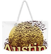 Bats Over Austin Weekender Tote Bag