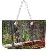 Hunter In The Adirondacks Weekender Tote Bag