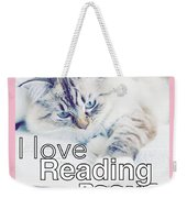 I Love Reading Books Weekender Tote Bag