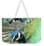 Indian Blue Peacock Weekender Tote Bag