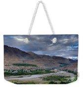 Indus River And Kargil City Leh Ladakh Jammu Kashmir India Weekender Tote Bag