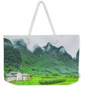 Karst Mountains Rural Scenery Weekender Tote Bag