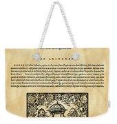 Konrad Von Gesner Weekender Tote Bag