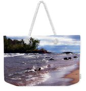Lake Superior Shoreline Weekender Tote Bag