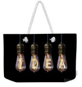 Light Bulb Background Weekender Tote Bag