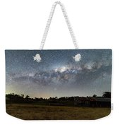 Milky Way Over A Farm Shed Weekender Tote Bag