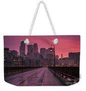 Minneapolis Skyline Weekender Tote Bag