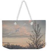 Snowy Owl Glide Weekender Tote Bag