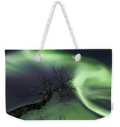 Northern Lights In The Arctic Weekender Tote Bag by Arild Heitmann