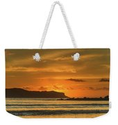 Orange Sunrise Seascape And Silhouettes Weekender Tote Bag