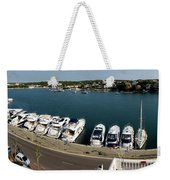 panoramic town 1 - Panorama of Port Mahon Menorca Weekender Tote Bag