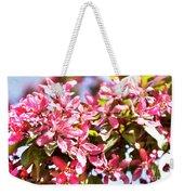 Pink Cherry Flowers Weekender Tote Bag