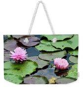 Pink Water Lily Series Weekender Tote Bag