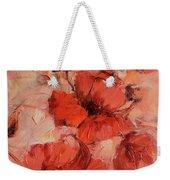 Poppy Flowers Handmade Oil Painting On Canvas Weekender Tote Bag