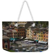 Portofino In The Italian Riviera In Liguria Italy Weekender Tote Bag by David Smith