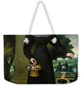 Portrait Of A Young Lady With Flower Basket Weekender Tote Bag