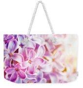 Purple Spring Lilac Flowers Blooming Close-up Weekender Tote Bag