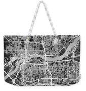 Quad Cities Street Map Weekender Tote Bag