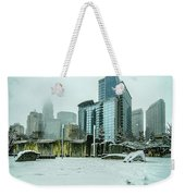 Rare Wintry Mix Around Charlotte City Streets In North Carolina Weekender Tote Bag