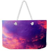 Red Cloudscape At Sunset. Weekender Tote Bag