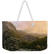 River In The Ardennes At Sunset Weekender Tote Bag