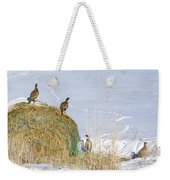 4 Roosters And A Hen Weekender Tote Bag