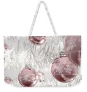 Rose Gold Christmas Baubels Weekender Tote Bag