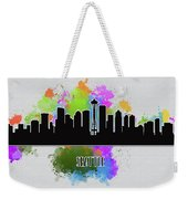 Seattle Skyline Silhouette Weekender Tote Bag