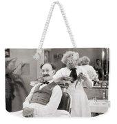 Silent Still: Barber Shop Weekender Tote Bag