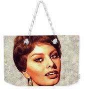 Sophia Loren, Vintage Movie Star Weekender Tote Bag