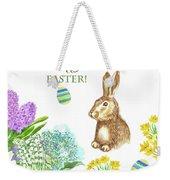 Spring Rabbit And Flowers Weekender Tote Bag
