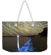 Star Trails And Bioluminescence Weekender Tote Bag by Philip Hart