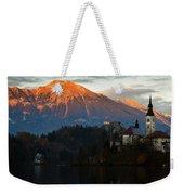 Sunset Over Lake Bled Weekender Tote Bag