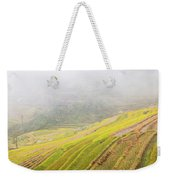 Terrace Fields Scenery In Autumn Weekender Tote Bag
