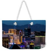 the Strip at night, Las Vegas Weekender Tote Bag