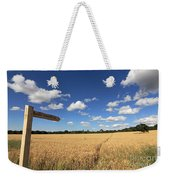 Tracks Through Golden Wheat Field Weekender Tote Bag