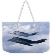Two F-117 Nighthawk Stealth Fighters Weekender Tote Bag by HIGH-G Productions