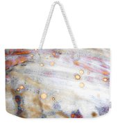 4. V2 Dirty Brown And White Glaze Painting Weekender Tote Bag