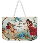 Valentines Day Card Weekender Tote Bag